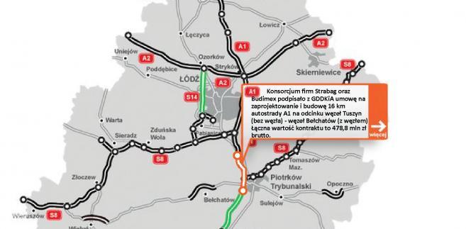 A1 odcinek Tuszyn - Bełchatów