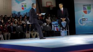 Prezydent USA Barack Obama przemawia podczas Bell Univision Multicultural School w Waszyngtonie, DC, USA