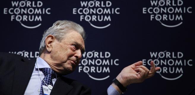 George Soros, założyciel i prezes Soros Fund Management LLC, w trakcie konferencji Światowego Forum Ekonomicznego w Davos.