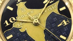 Złoty zegarek marki Rolex, należący do Rajendry Prasada, pierwszego prezydenta Indii, fot. Sothebys via Bloomberg