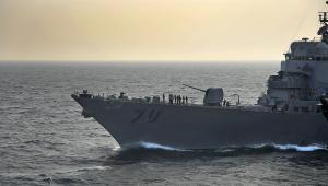 Amerykański niszczyciel USS Hopper, fot. Daniel A. Barker/US Navy via Bloomberg News