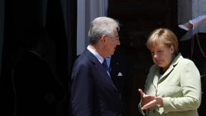 Mario Monti i Angela Merkel