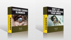 W Australii zakazano umieszczania logo producentów na paczkach papierosów mimo protestów koncernów tytoniowych. Paczki będą jednolitego szaro-oliwkowego koloru. Znajdą się na nich napisy ostrzegające przed szkodliwością palenia oraz zdjęcia ust zaatakowanych przez raka i ślepych gałek ocznych.