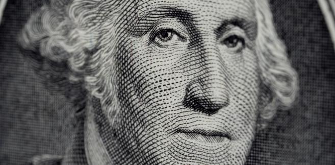 Zbliżenie na amerykański banknot
